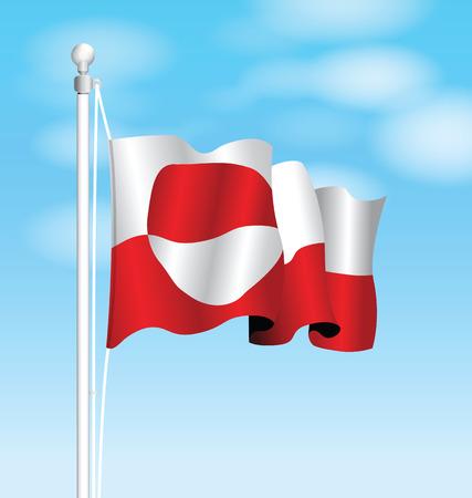 greenland: greenland flag Illustration