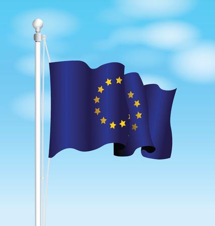 unification: european flag Illustration