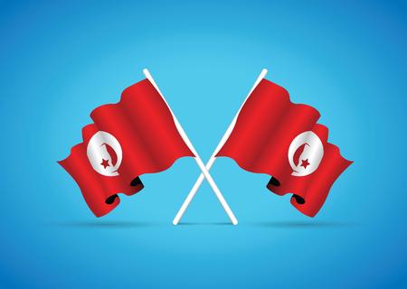 tunisia: tunisia national flag Illustration