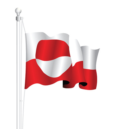 greenland: greenland flag Illustration