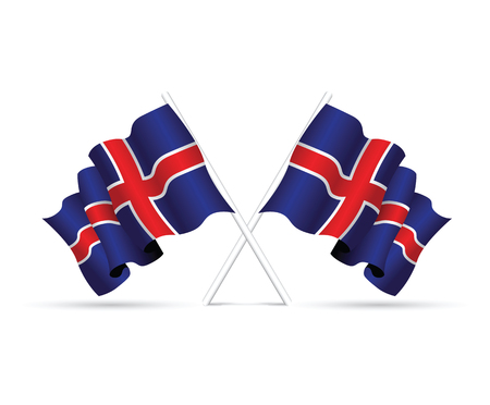 iceland: iceland flag Illustration