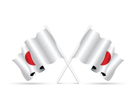 flagstaff: japan flag Illustration