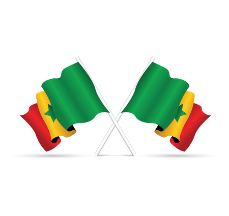 senegal: senegal national flag