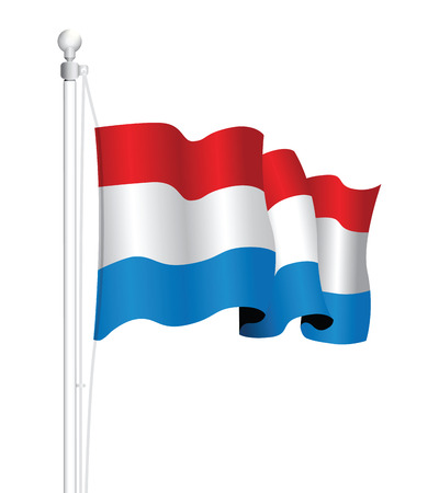 europe closeup: luxembourg flag Illustration