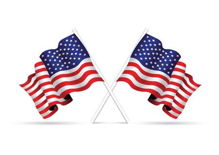 bandera blanca: bandera nacional EE.UU. Vectores