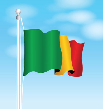 benin: benin flag Illustration