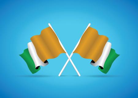 coast: ivory coast flag Illustration