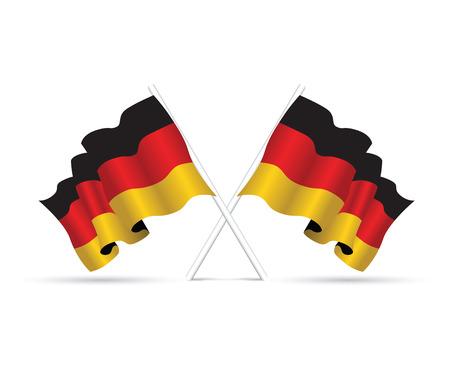 Bandera de la República Federal de Alemania  Ilustración de vector
