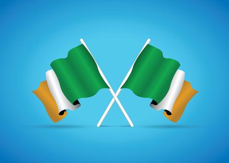 irish pride: ireland flag