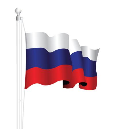 bandera rusia: Bandera de Rusia Vectores