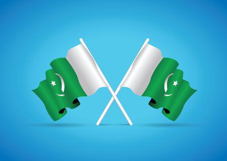 pakistan flag: pakistan flag Illustration