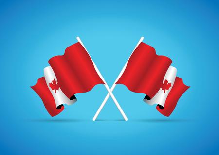 flag: canada flag Illustration