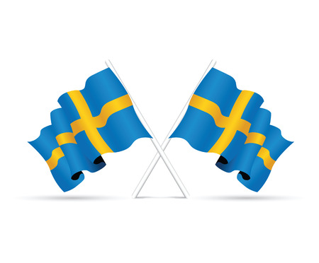 objects with clipping paths: sweden national flag Illustration