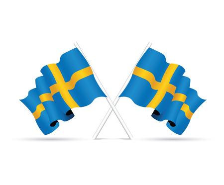 star path: sweden national flag Illustration