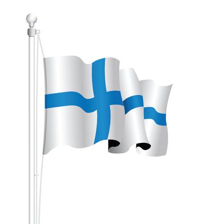 finland: finland flag Illustration