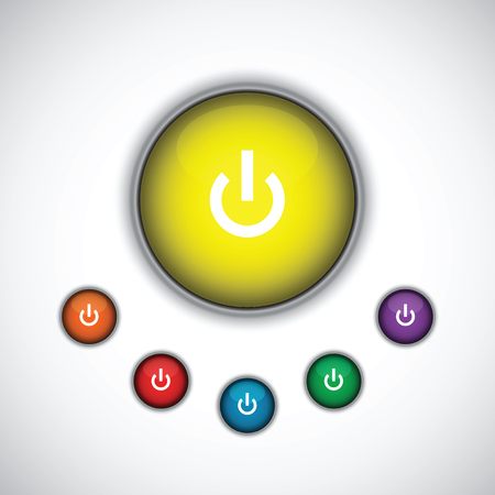 turn yellow: turn on button set