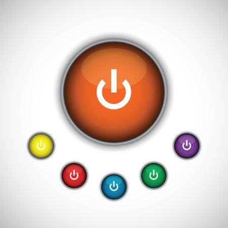turn on: turn on button set