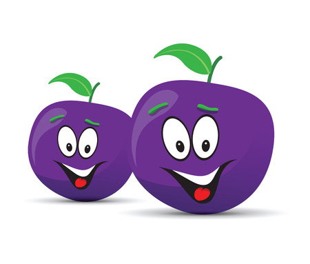 country farms: happy plum face