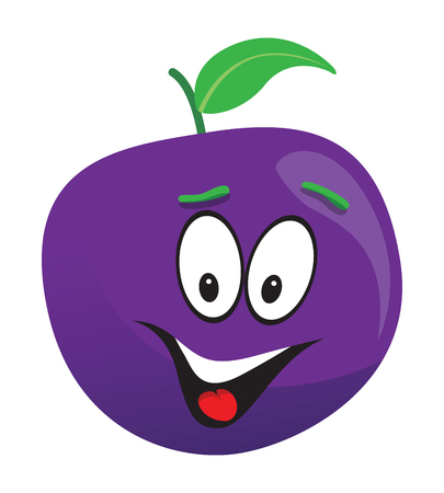 country kitchen: happy plum face