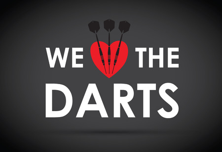 we: we love the darts Illustration