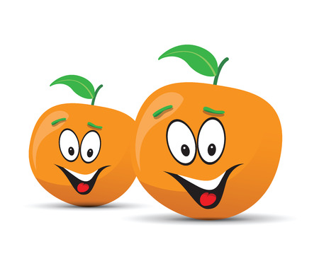 country farms: happy orange face