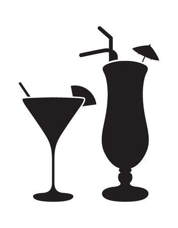 silhouettes: cocktails silhouettes Illustration