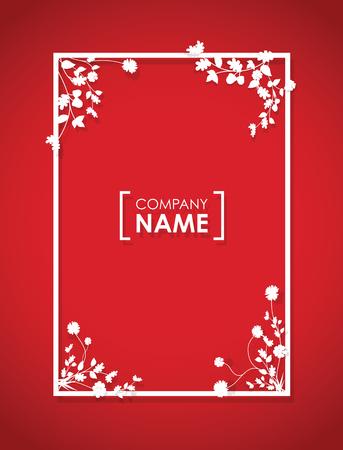bordure de page: floral frontière chevauchement