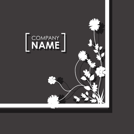overlapping: floral overlapping border Illustration