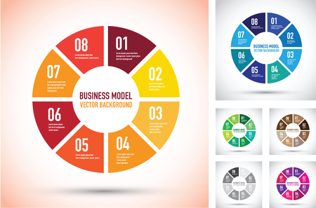 business: colourful business model group