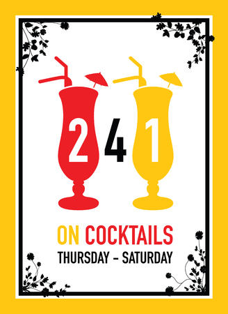night out: two for one on cocktails deal