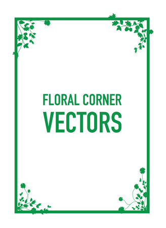 page corner curl: floral corners background Illustration