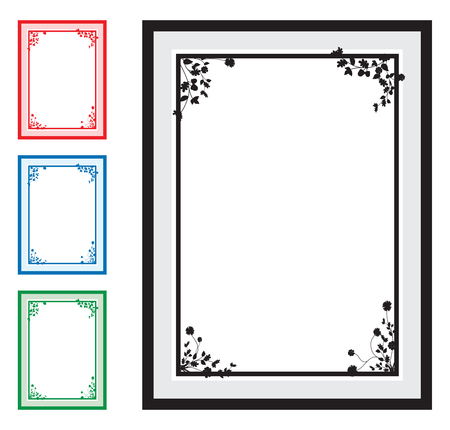 corner ornament: floral corners background Illustration