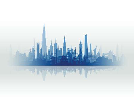 building trade: famous landmarks cityscape Illustration