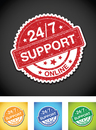 twenty: twenty four seven online support sign set