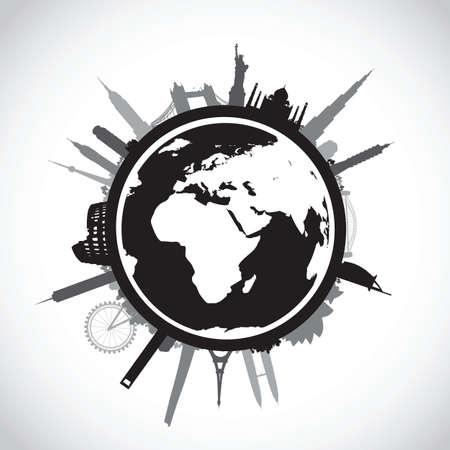 building trade: black world landscape cityscape