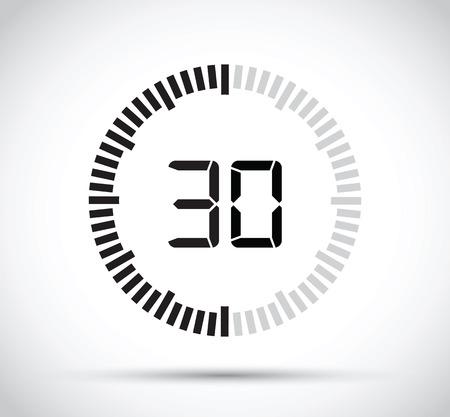 watch movement: 30 second timer Illustration