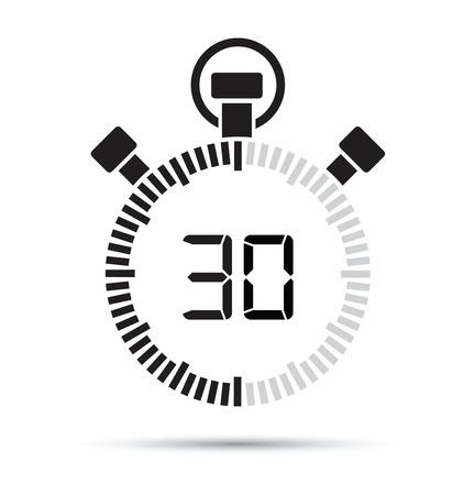 second: 30 second timer Illustration