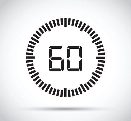 60 second timer Ilustração