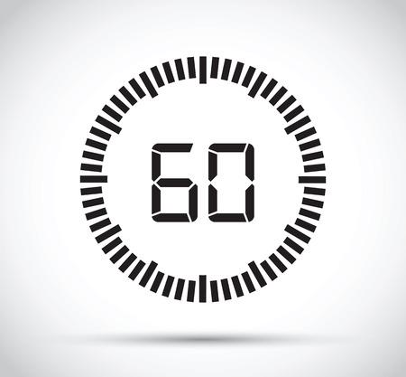 60 second timer Ilustrace