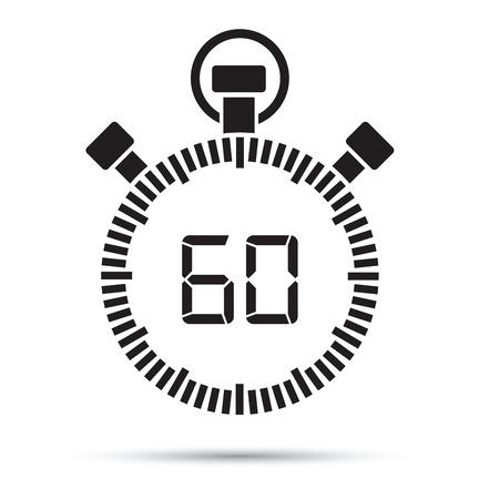 60 second timer  イラスト・ベクター素材