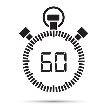 second: 60 second timer Illustration