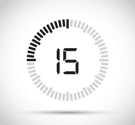 15 second timer Stock Illustratie