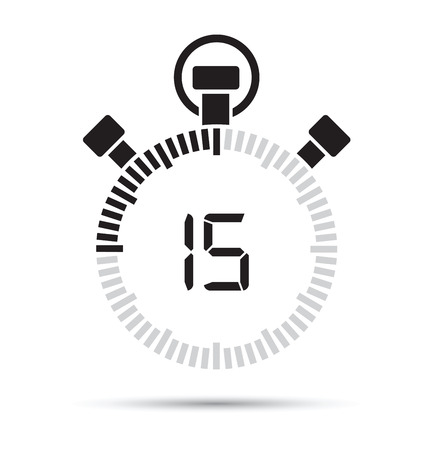 second: 15 second timer Illustration