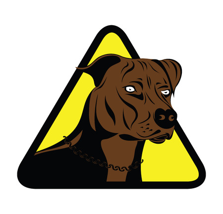 shire: warning staffordshire terrier dog silhouette
