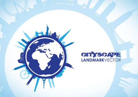 building trade: blue world landscape cityscape