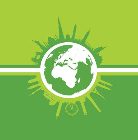 building trade: green world landscape cityscape