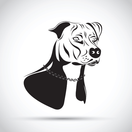 staffordshire terrier dog silhouette