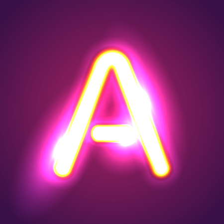 letter alphabet: letter illumination