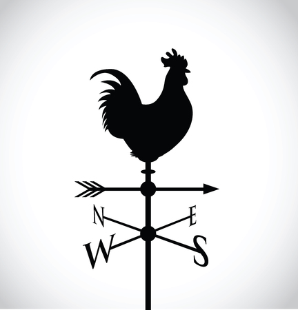 cockerel op een weer bericht Stock Illustratie