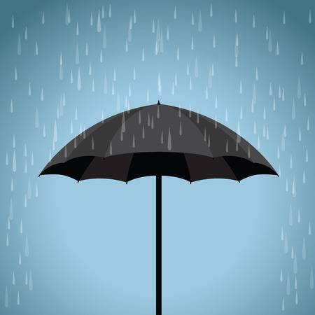 black: black umbrella Illustration